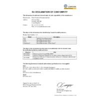 Comark C12 HACCP Food Thermometer - EU Declaration of Conformity