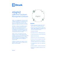 Druck 4Sight2 R1.4 Standard On-Premise Calibration Software - Datasheet