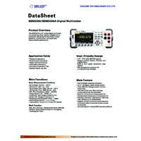 Siglent SDM3055 & SDM3055A Digital Multimeter - Datasheet