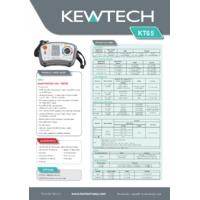 Kewtech KT65 Multifunction Tester - Datasheet