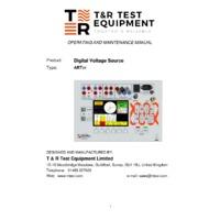 T&R ART3V Relay Test System - Operating & Maintenance Manual