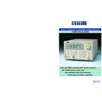 Aim-TTi TGR Synthesised RF Signal Generators - Datasheet
