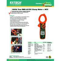 Extech MA1500 Clamp Meter Datasheet
