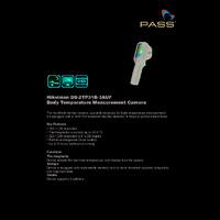 Hikvision DS-2TP31B-3AUF Fever Screening Thermal Camera - Datasheet