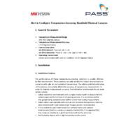 How to Configure Temperature-Screening Handheld Thermal Cameras