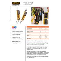 Martindale VT25 & VT28 Voltage Testers - Datasheet