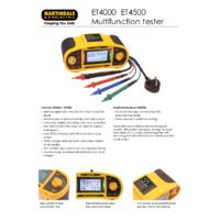 Martindale ET4000 & ET4500 Multifunction Testers - Datasheet