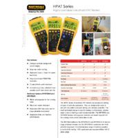 Martindale HPAT Series of Portable Handheld PAT Testers - Datasheet
