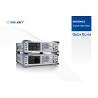 Siglent SSG5000X Signal Generators - Quick Guide