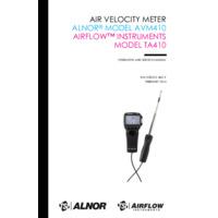 TSI Airflow™ TA410 Hot Wire Anemometer - User Manual