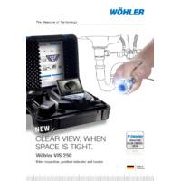 Wöhler Vis 200 & Vis 250 Visual Inspection Service Camera - Datasheet