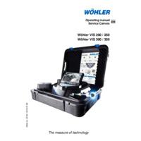 Wöhler Vis 200, 250, 300 & 350 Visual Inspection Service Cameras - Operating Instructions