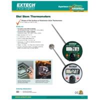 Extech 392052 Flat Surface Stem Dial Thermometer Datasheet