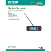 Extech 392065 T Bar Stem Thermometer Datasheet