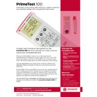 Seaward PrimeTest 100 5th Edition Datasheet