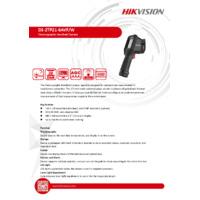 Hikvision DS-2TP21-6AVF-W Handheld Thermal Imaging Camera - Datasheet