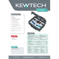 Kewtech FC2000 Calibration Checkbox - Datasheet