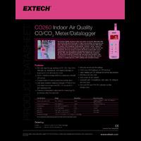 Extech CO260 IAQ & CO & CO2 Datalogging Meter - Datasheet