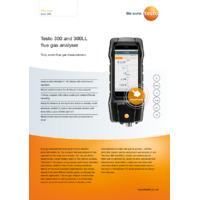 Testo 300 Flue Gas Analyser - Datasheet